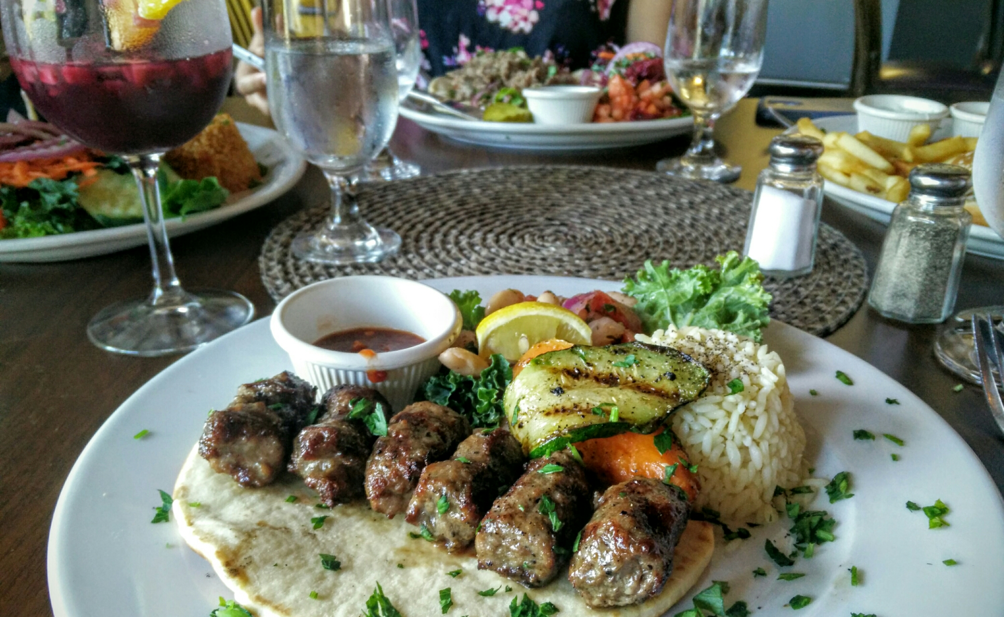 Delicious Spread At Agora Mediterranean Kitchen! #ilovewpb